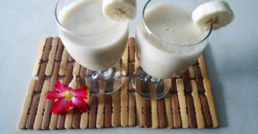 Como fazer smoothie de banana